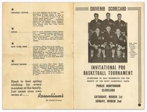 1941 Rosenblum Tournament scorecard