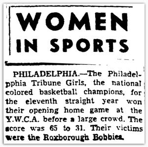 Women In Sports headline