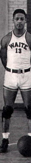 Al Price in Waite High School basketball team uniform