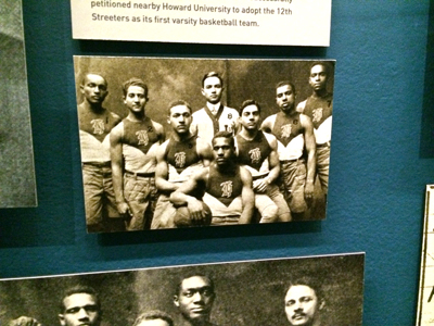 Howard University's first varsity basketball team 1912 Reproduction