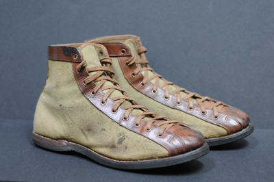 Vintage Pair of 1910s Basketball Shoes