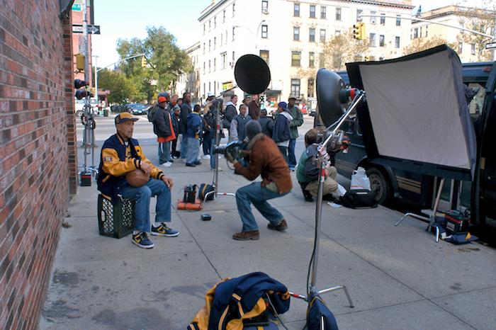 John Isaacs photo shoot, Harlem