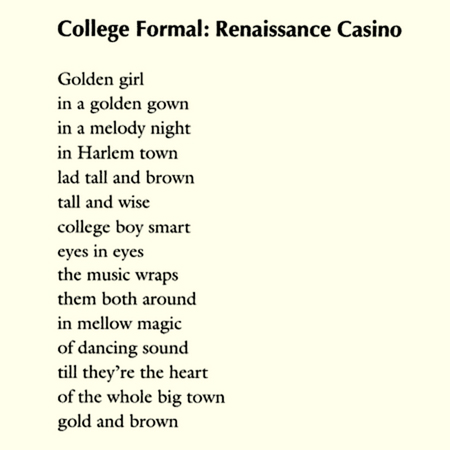 College Formal: Renaissance Casino by Langston Hughes