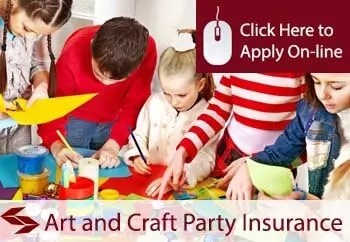 self employed arts and craft parties liability insurance