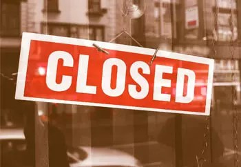 closed for business