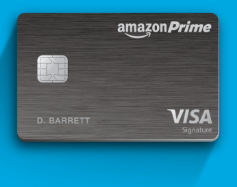 Amazon Visa Reward Card offering $70 instant Gift card to use Black