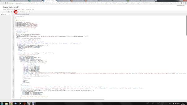 Cliquer sur l'icone Déclencheurs de script du projet.