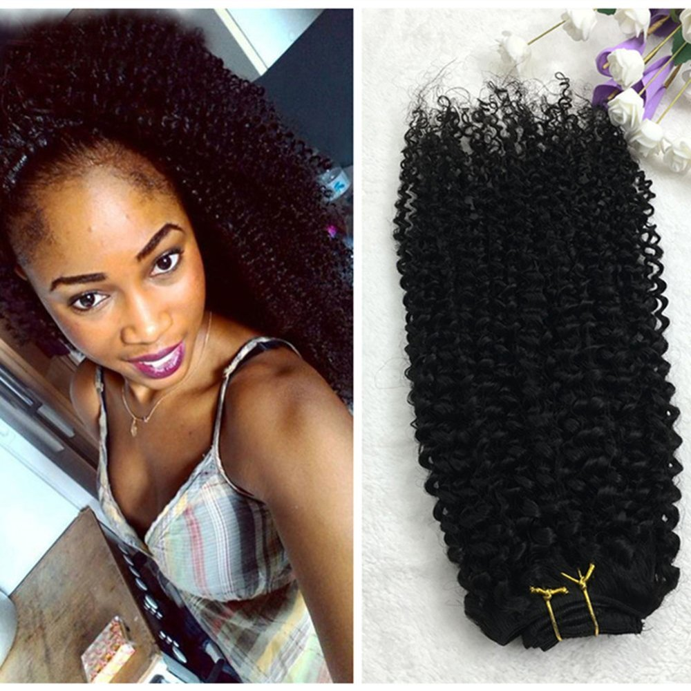 Full Shine 16 7 Pcs 100g Curly Hair Clip Ins For African