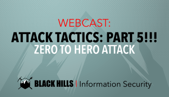 WEBCAST: Live Forensics & Memory Analysis - Black Hills