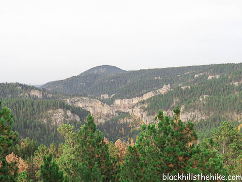 Buzzard's Roost the view of Spearfish Canyon