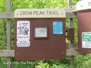 Crow Peak trailhead, Spearfish, SD
