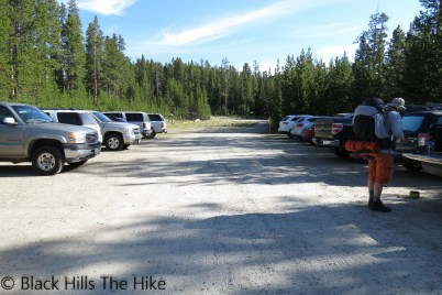 Tensleep Parking Lot (Backpacking In the Bighorns – Hiking Bomber Mountain)