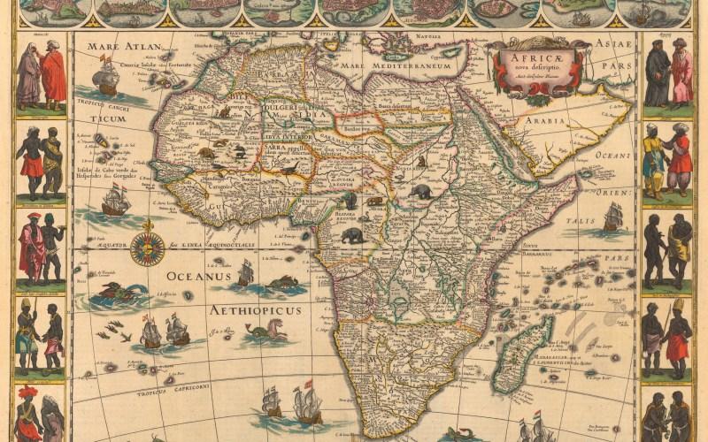 Ethiopian Ocean (Aethiopicus Oceanus) Map
