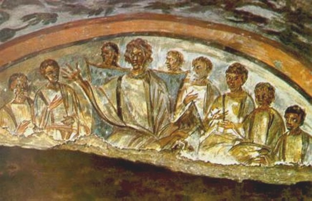 The Catacombs of Domitilla - Christ and The Disciples