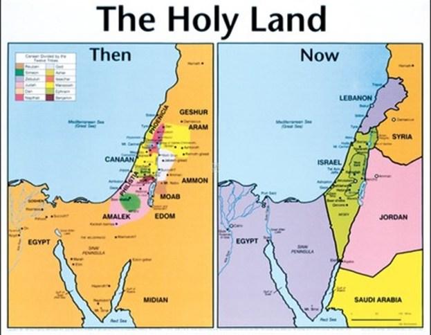 The Land of Edom - Map of Edomite Territory - Edom Israel Border