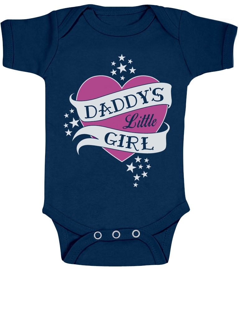 Fathers Day Gift Daddy Little Girl Love Heart Bodysuit