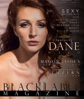 boudoir photography, exotic models, nude art, Dane Halo, Maison Close, sensual art, photography, black label magazine issue #7