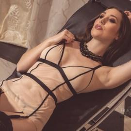 Willa Prescott, lingerie, stockings, nude, brunettes, natural boobs, nude art, Black Label Beauties, Black Label Magazine