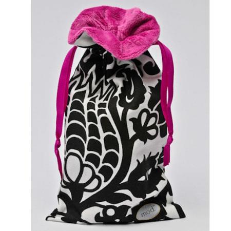 Mod Black and Pink Damask Bag
