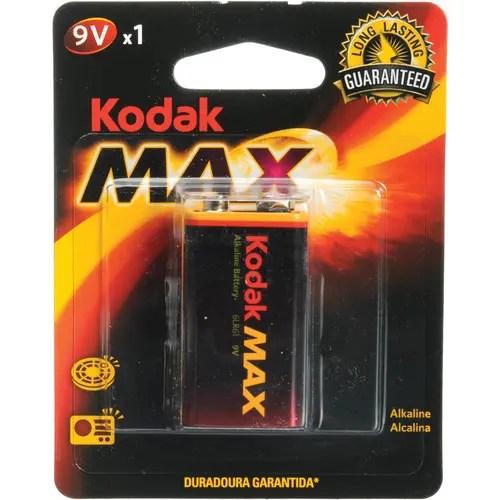 Kodak Max 9V Alkaline Battery