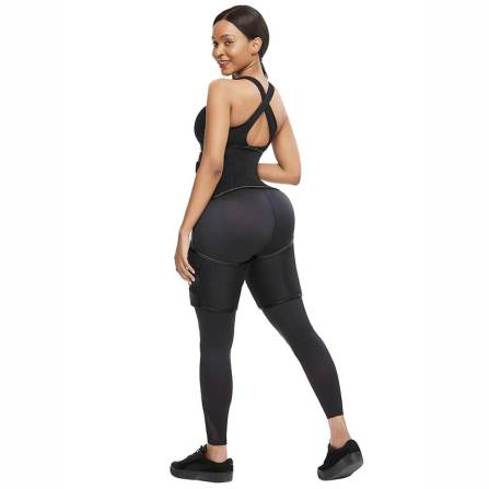 High Waist Neoprene Thigh Trimmer and Butt Lifter Black