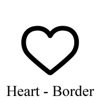 Cute Icon - Heart - Border