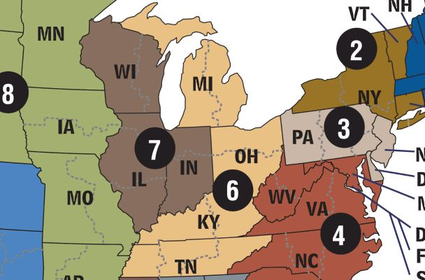map of jurisdictions of us courts of appeals for the sixth and seventh circuits