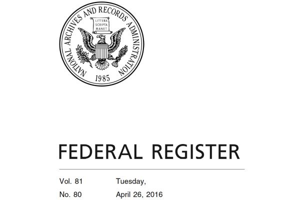 Image of Cover of Federal Register