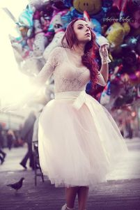 Ivory Tulle skirt from space 46
