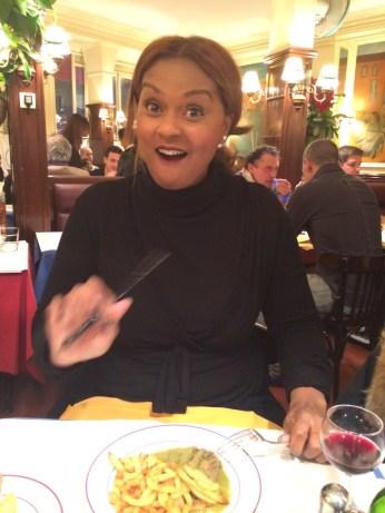 Geen foto's wanneer ik eet!