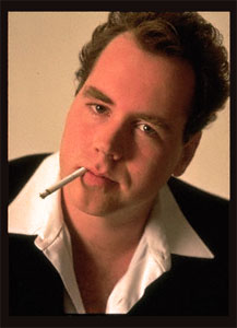 Brett Easton Ellis, looking pretty much like you woudl expect him to look.