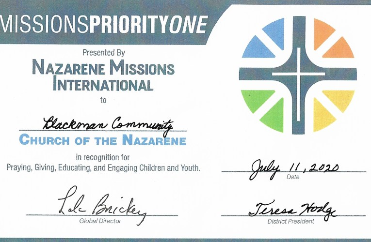 Missions Priority One