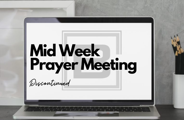 Wednesday Night Prayer Group Discontinued