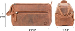 Rustic Town Buffalo Leather Toiletry Bag