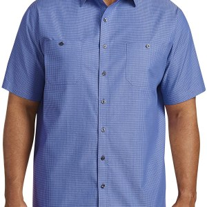 DXL Synrgy Big and Tall Textured Solid Sport Shirt