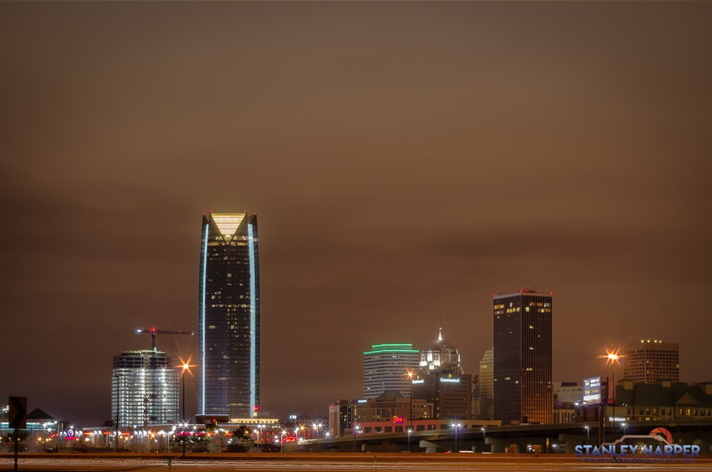 Oklahoma City Night Skyline