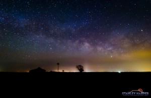 Oklahoma Barn at Night