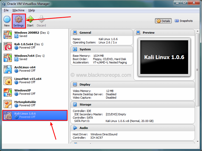 A detailed guide on installing Kali Linux on VirtualBox - blackMORE Ops - (10)