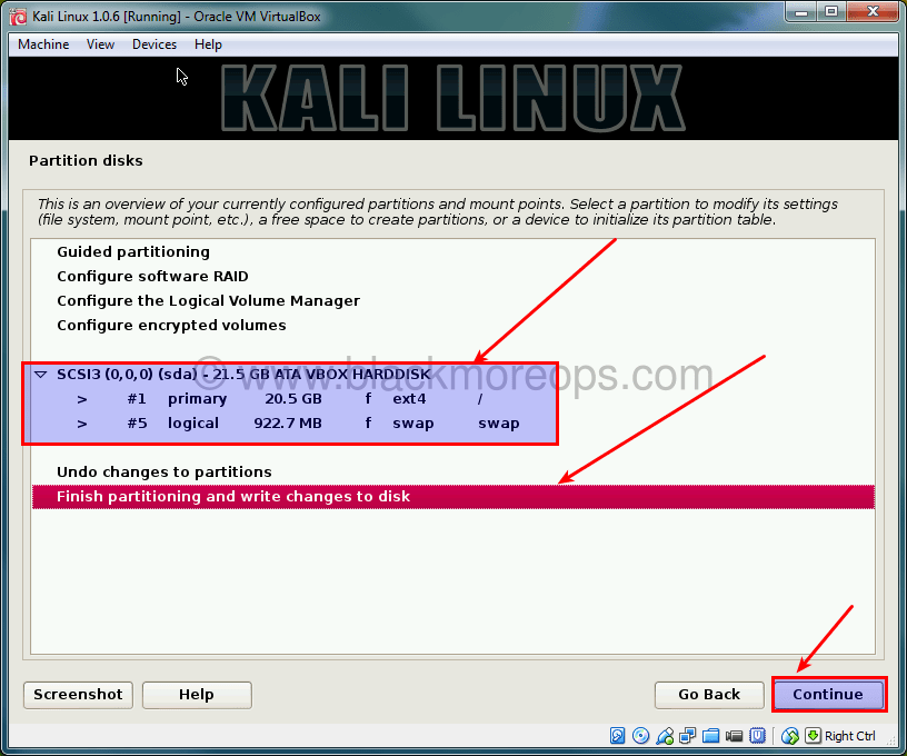 A detailed guide on installing Kali Linux on VirtualBox - blackMORE Ops - (34)
