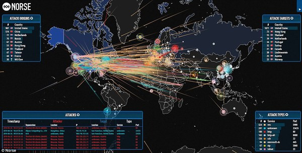 Image result for ddos attacks map