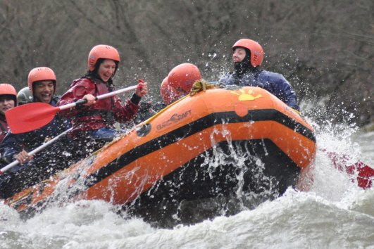 white water rafting photo