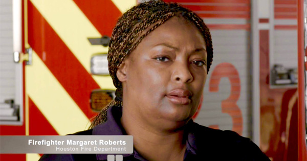 Margaret Roberts, a Houston firefighter who died of multiple myeloma