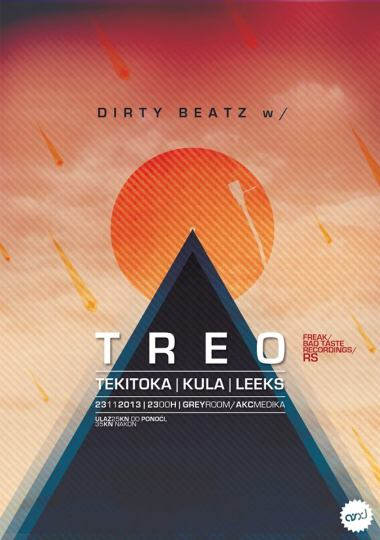 DIRTY BEATZ otvaranje sezone w. TREO (Freak, Bad Taste Recordings, RS)