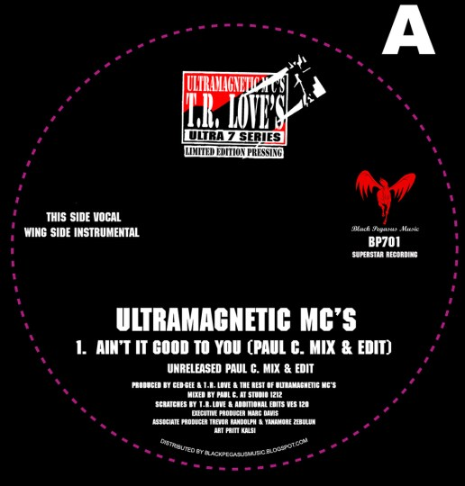 Ultramagnetic M.C's - Aint it good to you (Unreleased Paul C edit)