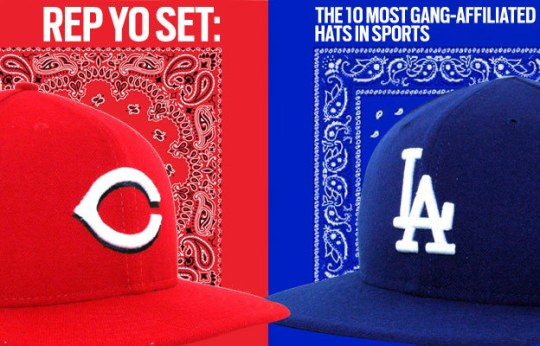 gang affiliated hats
