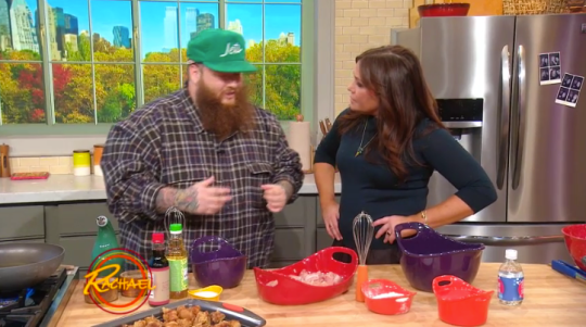 "Action Bronson & Rachel Ray Cook ""Xplosive"" Fried Chicken"