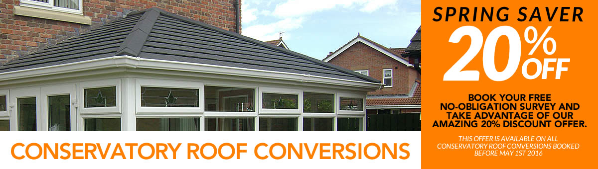20% Discount Off Your Conservatory Roof Conversion