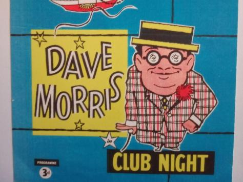 A 1958 programme from when Dave Morris performed in Blackpool