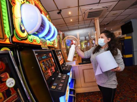 Arcades are rigorously cleaned between users to keep areas clean and safe. Picture: Daniel Martino/JPI Media
