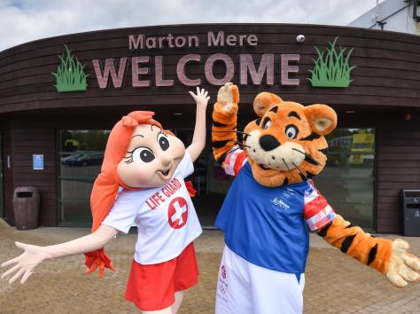 Haven mascots Polly and Rory the Tiger can't wait to welcome families back to Marton Mere in Blackpool. Picture: Daniel Martino/JPI Media